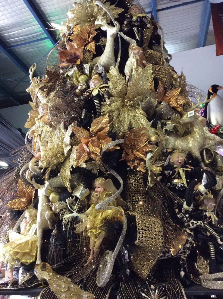 Miss Haberdash Christmas, Christmas Treasure, back view, 2015.