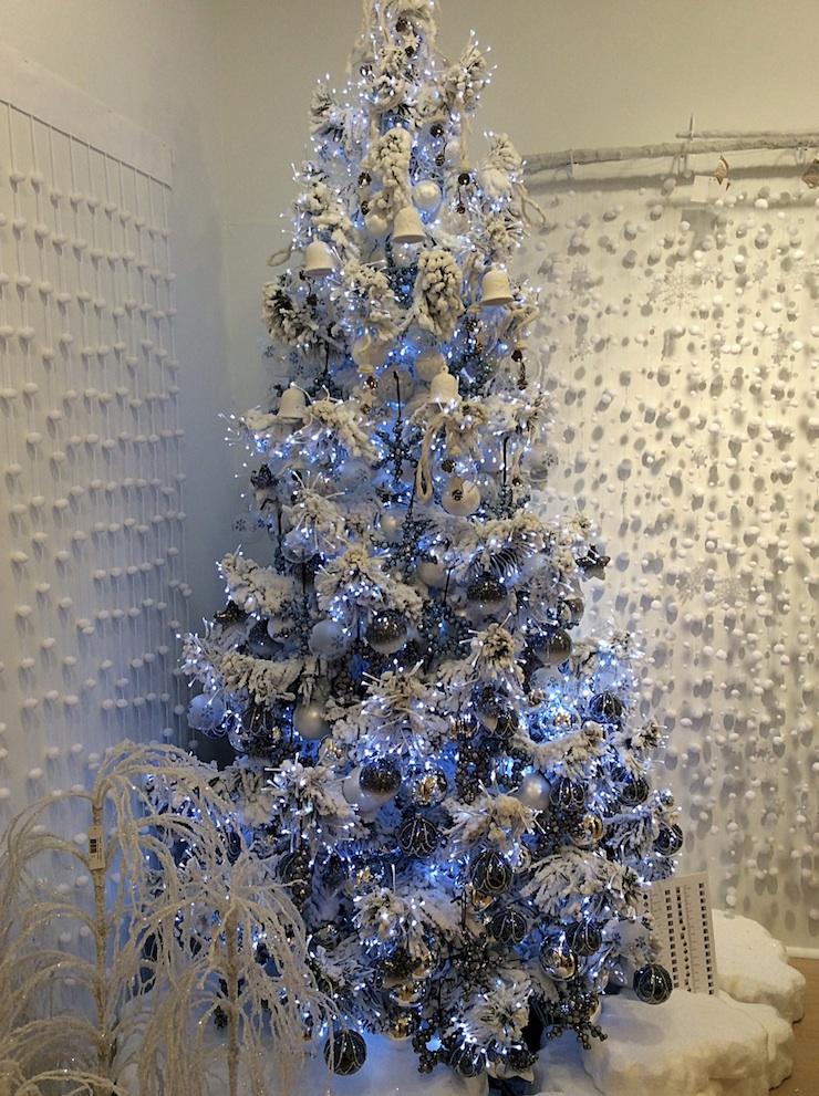 Flocked Christmas Trees - Miss Haberdash Christmas
